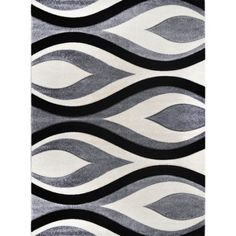 Home Dynamix Sumatra Collection 5'2 inch x 7'2 inch Contemporary Area Rug, Gray