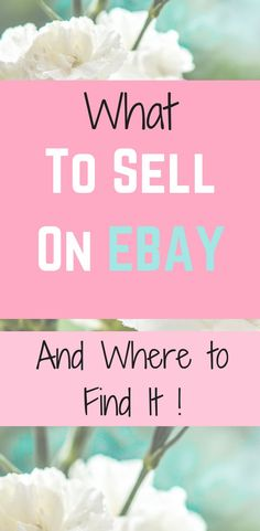 Ebay selling tips with lots of info on where to find wholesalers, where to find products, what to sell and how to make money from home on a regular basis.