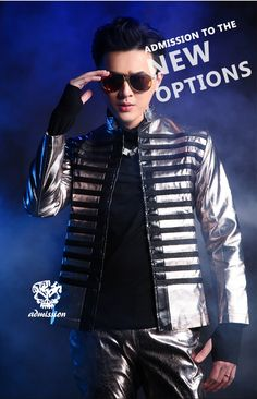 2016 Fashion Cool Personality Male Leather Jacket outerwear Nightclub Dj Singer slim suit costume for dancer leadig show wear