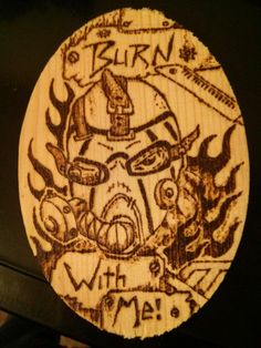 Woodburning of Kreig Psycho Borderlands 2 by Mehdals on Etsy Krieg Borderlands, Woodburning, Good Ol, Frankenstein, Video Game, Characters, Etsy, Tattoos, Tatuajes