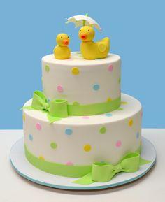 Duckie Baby Shower Cake