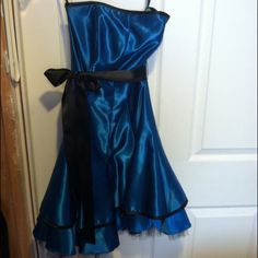 Blue and black party dressReduced price Blue and black party dress. Worn once. Dresses