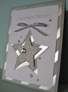 Ornamental Pine or Bright & Beautiful (for the greeting) - SU - Christmas Star - Libby Dyson Design (by Barb Mann)