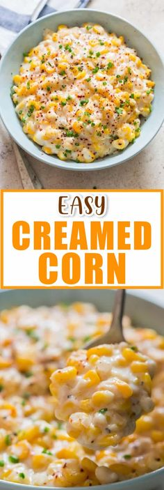 Creamed corn is a side dish that you can enjoy all year long. It's great side dish from summer picnics and potlucks to holiday gatherings. #sidedish #sides #creamedcorn #cornsidedish #frozencorn #sweetcorn #summerpotlucks #summerpicnics #holidaysidedish #Thanksgivingsides #Thanksgivingrecipes