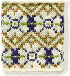 technicolor garden colorwork chart - vogue knitting