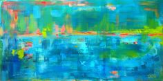 """ARTFINDER: Below the Surface  by Drew Noel Trombley - This lively painting will light up any room. """"Below the Surface"""" would look amazing over a couch or bed, giving off a sense of calmness and happiness! Put a ..."""