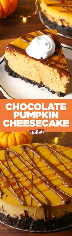 You won't find this chocolate pumpkin cheesecake at The Cheesecake Factory. Get the recipe on Delish.com.