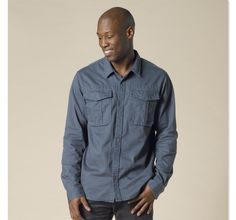Seiger Shirt by prAna made of organic cotton.