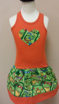 Teenage+Mutant+Ninja+Turtles+Dress.+TMNT+by+GraceMadisonDesigns,+$20.00