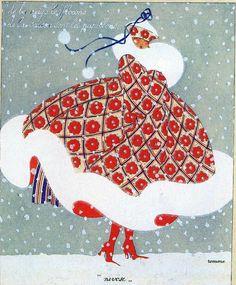 New Fashion Illustration Winter Snow Vintage Christmas Cards Ideas Art Vintage, Vintage Cards, Vintage Images, Vintage Posters, Vintage Woman, Illustration Noel, Christmas Illustration, Winter Illustration, Art Nouveau