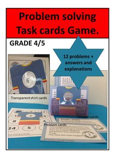 Problem Solving Math task cards: T-Shirt Talk. Math Math, Fun Math, Math Activities, Math Problem Solving, Higher Order Thinking, Math Task Cards, Thematic Units, Critical Thinking Skills, Math Concepts