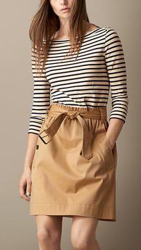 stripe dress: バーバリー コントラスト・スカート・ストライプ・トップ・ドレス  - shopstyle.co.jp
