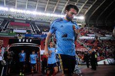 Michu of Spain walks onto the pitch prior to the FIFA 2014 World Cup Qualifier match between Spain and Belarus at Iberostars Stadium on October 11, 2013 in Palma de Mallorca, Spain