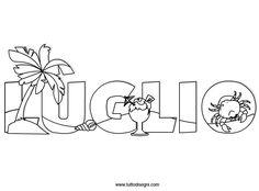 Mesi da colorare - Luglio - TuttoDisegni.com