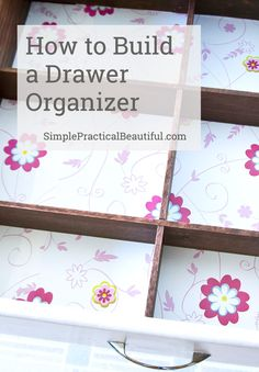 How to build your own diy bathroom drawer organizer