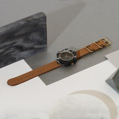 Mason Watch with Hexagon Black Marble Body & Tan Strap Masonic Watches, Marble Watch, Tan Body, Black Marble, Travel Accessories, Stylish, Stuff To Buy, Contemporary, Lifestyle