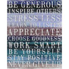 Be Generous Canvas Print at Joss & Main