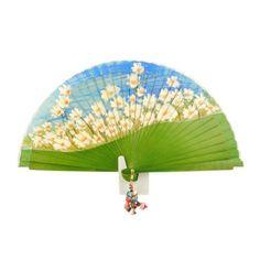 Abanico signo Tauro en paulaalonso.es Hand Held Fan, Hand Fans, Painted Fan, Chinese Fans, Fan Decoration, Daisy Wedding, Vintage Fans, Art Thou, Paper Fans