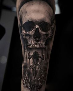 Scary Skull Tattoo on Forearm recover deleted photos android 2020 Skull Sleeve Tattoos, Best Sleeve Tattoos, Tattoo Sleeve Designs, Evil Skull Tattoo, Evil Tattoos, Scary Tattoos, Grey Ink Tattoos, Tatoos, Forearm Tattoos