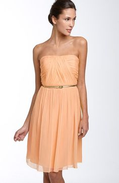 Peach Dress Donna Morgan