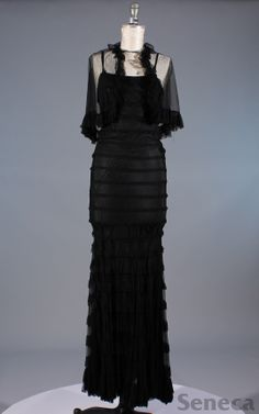 1930s tiered gown