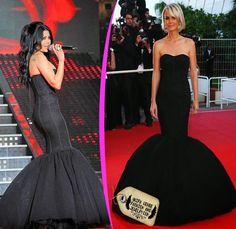 4b0d1d88e115 Haifa wehbe fashion and jewelry  Haifa Wehbe Wearing Black Tulle ...  Mermaid Dresses