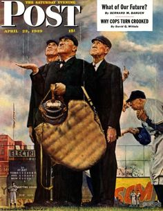 Three Umpires (Norman Rockwell April 23, 1949)