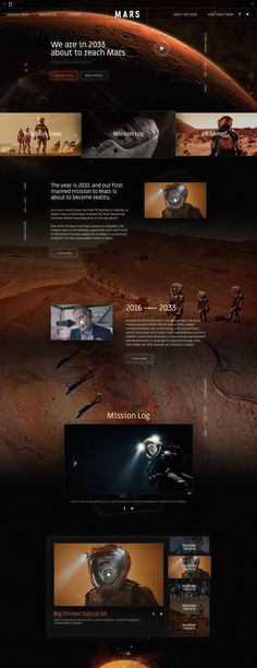 Mars National Geographic Design Sites, Web Design Trends, Page Design, Website Layout, Web Layout, Layout Design, Mars National Geographic, Desktop Design, Modern Website
