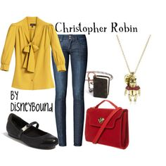 """""""Christopher Robin"""" by lalakay on Polyvore-Disney inspired outfits"""