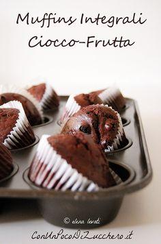 Muffins Integrali - wholemeal muffins: https://conunpocodizucchero.wordpress.com/2015/03/18/muffin-integrali-ciocco-frutta-senza-uova-e-senza-burro/