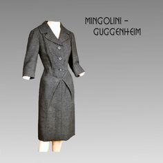 Vintage Designer Dress Mingolini Guggenheim Italian Designer Dress