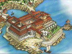 The Villa of Pollio Felice in Sarrentum (Sorrento) in the Bay of Naples.