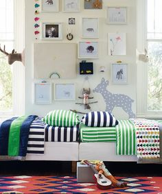 Grass Green & White HannaSoft™ Swedish Stripe Sheet Set