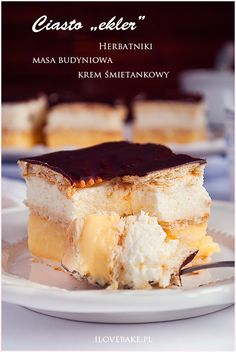 Sweets Cake, Polish Recipes, Food Inspiration, Baked Goods, Food To Make, Pavlova, Cheesecake, Good Food, Food Porn