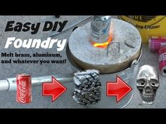 Here is a tutorial of how to make foundry that can melt most metals known to man. This foundry is sooo fun to run and casting molten metals is so interesting. Aluminum Crafts, Metal Crafts, Aluminum Recycling, Metal Tree Wall Art, Metal Art, Melting Metal, Metal Shop, Homemade Tools, Metal Projects