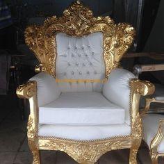 Barok Fauteuil Queen Delilah Gold Oase van Schoonheid | Le Chique Wonen