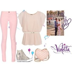 Violetta 3: Supercreativa by stylewiktoria on Polyvore featuring mode, Maison Kitsuné, Converse, Rebecca Minkoff, Forever New, ANNA, Ultimo, women's clothing, women's fashion and women
