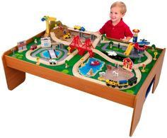 If you are looking for Christmas Gift Ideas for Boys, be sure to check out this fun KidKraft Train Table and Train Set! This is a fun Gift Idea for Kids!