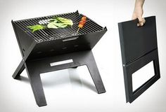 FireSense Notebook Charcoal Grill ($36)...20 Must-Have Grilling Gadgets | Brit + Co. - great for tailgating!