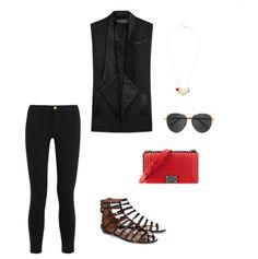 Look com rasteirinha Alaia + bolsa Chanel