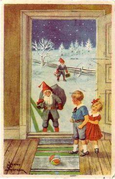 Jenny Nyström, Finnish Christmas Postcard 1947