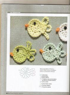 🐠 Aplique de Crochê em Peixes - / 🐠 Apply in Crocheting to Fishes - Crochet Motifs, Crochet Doilies, Crochet Flowers, Crochet Stitches, Crochet Patterns, Crochet Appliques, Crochet Bunny, Love Crochet, Crochet Animals