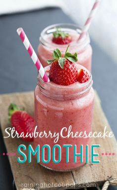 Strawberry Cheesecake Smoothie - Raining Hot Coupons