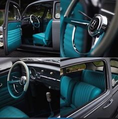 67 Best ideas for super cars vw bugs Vw Bus, Car Volkswagen, Volkswagen Beetle Interior, Volkswagon Bug, Vw Baja Bug, Old Vintage Cars, Cute Car Accessories, Toyota Cars, Cute Cars