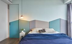 8 Simple and Creative Tricks Can Change Your Life: Spare Bedroom Remodel Accent Walls farmhouse bedroom remodel porches.Small Bedroom Remodel Before And After modern bedroom remodel interior design. Green Apartment, Family Apartment, Apartment Design, Headboard Designs, Bedroom Designs, Modern Bedroom, Kids Bedroom, Calm Bedroom, Bedroom Ideas