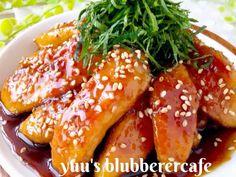 驚くほど柔らかい鶏胸肉の秘密♡甘辛チキンの画像 Meat Recipes, Chicken Recipes, Japenese Food, Japanese Chicken, Chicken Wings, Cooking, Kitchen, Brewing, Cuisine