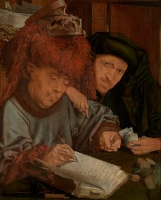 Marinus van Reymerswale (Reimerswaal 1490/95 - Goes 1546/56).   Stadsontvanger,  olieverf op paneel,  65 x 52 cm.  Uit de collectie van het KMSKA.