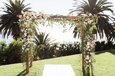 Outdoor wedding ceremony chuppah | Planned by Ilana Ashley Events