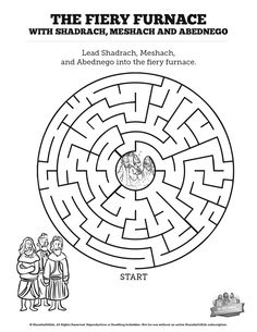 The Fiery Furnace With Shadrach Meshach And Abednego Bible Mazes Can Your Kids Find