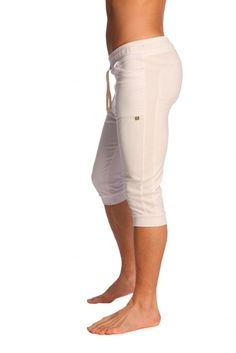 3a3303789a9181 Buy Organic Cuffed Yoga Pants For Men White With Pockets Yoga White Yoga  Pants Yoga Capris